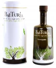Bio-Olivenöl nativ extra Carrasqueña Baeturia + Flaschenetu