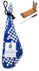 Pata Negra Schinken 100% aus Eichelmast Casa de Alba + Schinkenhalter + Schinkenmesser
