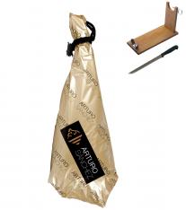 Pata Negra Schinken aus Eichelmast Gran Reserva Arturo Sánchez + Schinkenhalter + Messer