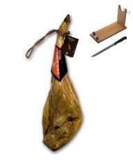 Zertifizierter Pata Negra Schinken aus Eichelmast Revisan + Schinkenhalter + Messer