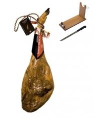 Pata Negra Schinken aus Eichelmast mit DO Guijuelo Revisan + Schinkenhalter + Messer
