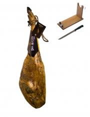 Pata Negra Schinken aus Eichelmast Don Agustín Höchste Qualität ganz + Schinkenhalter + Messer