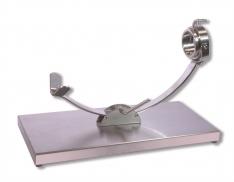 Schinkenhalter mit Laufschiene Edelstahl Drehkopf Steelblade
