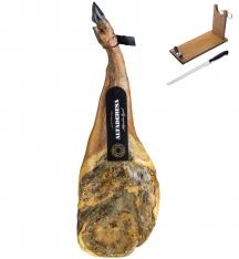 100% Pata Negra Schinken aus Eichelmast Altadehesa + Schinkenhalter + Schinkenmesser (Vorderschinken)