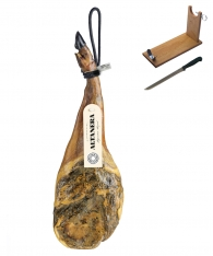 Pata Negra Schinken aus Futtermast Altadehesa (Vorderschinken) + Schinkenhalter + Messer