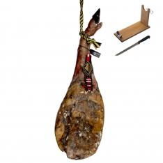 Pata Negra Schinken aus Wildpflanzenmast Arturo Sánchez + Schinkenhalter + Messer (Vorderschinken)