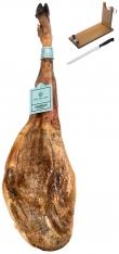 Pata Negra Schinken 100% Eichelmast Sánchez Romero Carvajal + Schinkenhalter + Messer