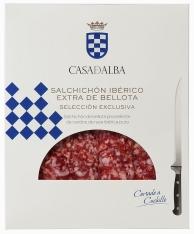Pata Negra Salchichón Dauerwurst aus Eichelmast handgeschnitten Casa de Alba
