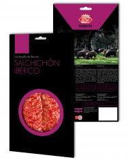 Pata Negra Salchichón Dauerwurst aus Wildpflanzenmast Revisan in Scheiben